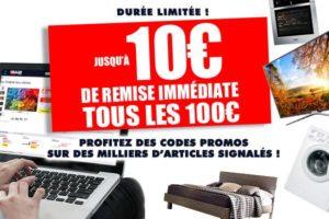 10€ tous les 100€ d'achat sur Ubaldi