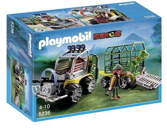 PLAYMOBIL 5236 - Véhicule avec cage et bébé T-Rex