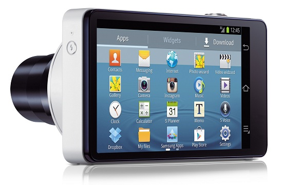 Samsung Galaxy Camera Wi-Fi blanc - applications