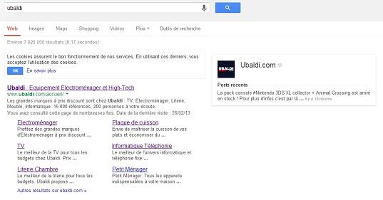 Capture d'écran Ubaldi