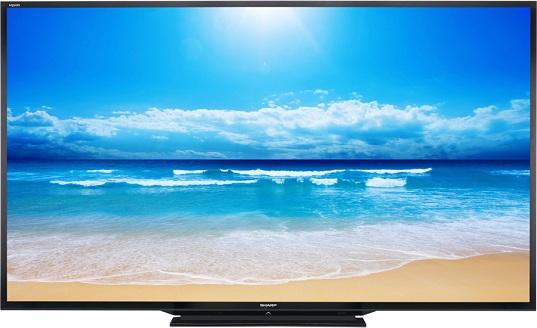 televiseur led sharp aquos ecran led sharp grande taille. Black Bedroom Furniture Sets. Home Design Ideas