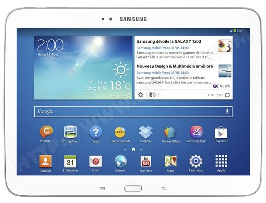 Tablette tactile Samsung GALAXY Tab 3 10.1""