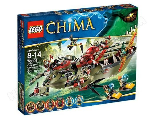 LEGO Chima 70006 - Le Croc Navire Cragger