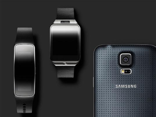 Galaxy S5 et différents accessoires
