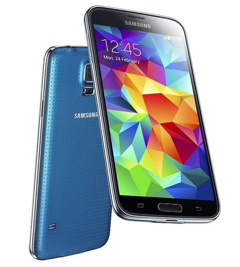 Galaxy S5 en version bleue