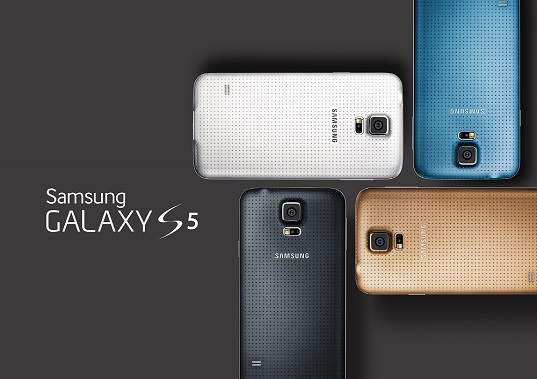 Différents coloris de Galaxy S5