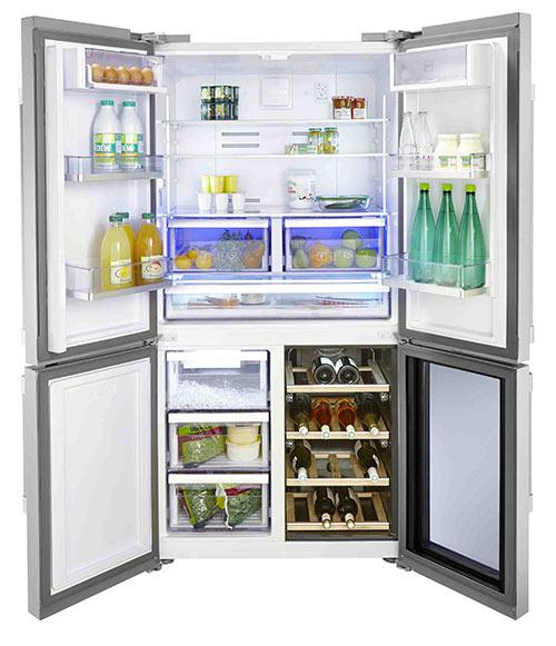 frigo 4 portes beko avec cave à vin