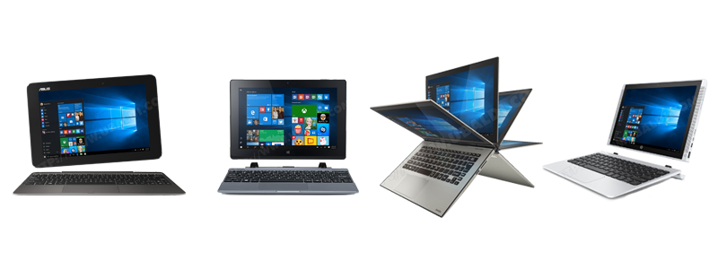 Ordinateurs hybrides : Asus, Acer, Toshiba, HP
