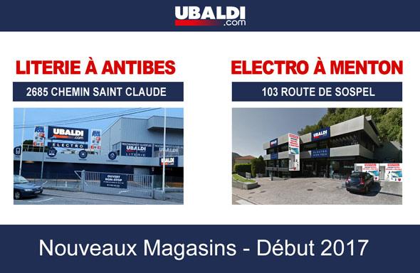 Nouveaux magasins Ubaldi 2017