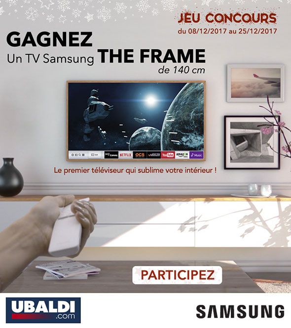 tv samsung the frame gagner tentez votre chance. Black Bedroom Furniture Sets. Home Design Ideas