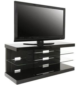 Meuble TV Noir laqué Ice Erard