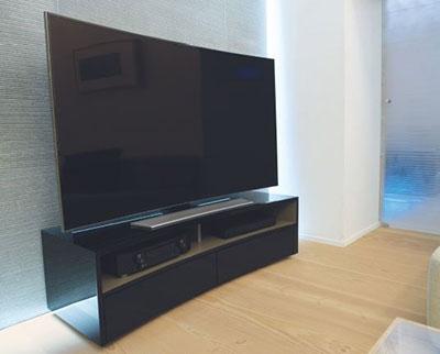 Meuble TV courbé stonegloss norstone