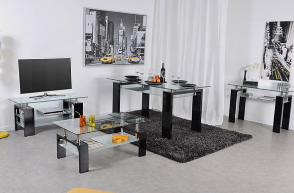 ou mettre la tv dans un salon design d co ameublement. Black Bedroom Furniture Sets. Home Design Ideas