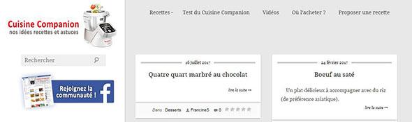 Blog Cuisine Companion Moulinex