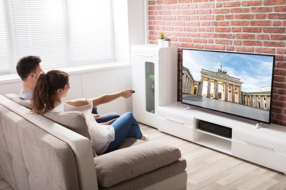 Réglage de la luminosité de la TV