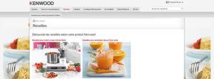 Site de recettes Kenwook