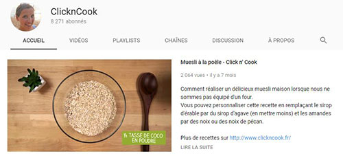 Youtube Click and Cook Moulinex