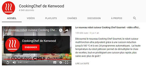 Youtube Cooking chef Kenwood
