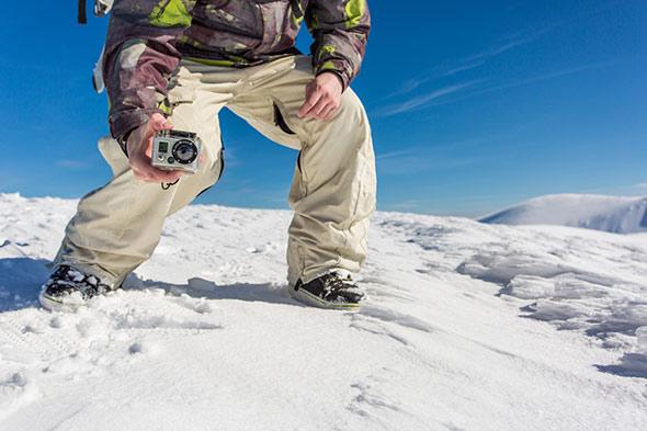 filmer a la neige avec gopro