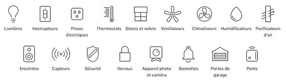 Tous les équipements HomeKit Compatibles
