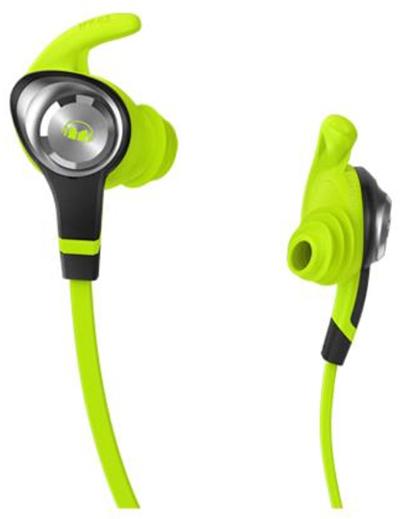 écouteurs isport Monster couleur verte