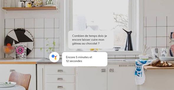 Google assistant dans cuisine
