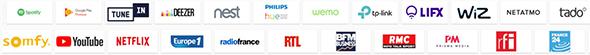 services compatibles google home