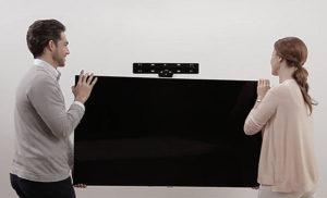 Accrochage d'une tv qled au mur