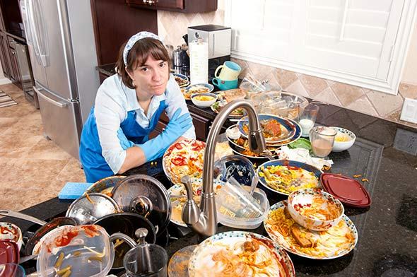 au secours j'ai trop de vaisselle à faire