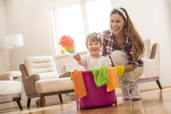 Faire le ménage en famille