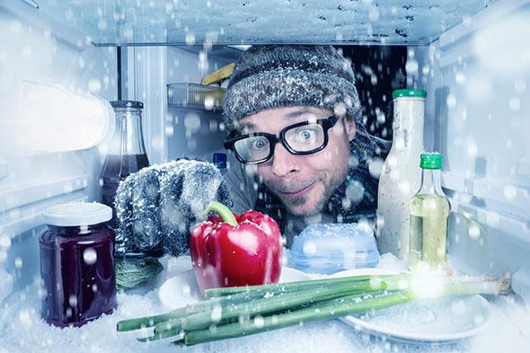 les différents zones de froid d'un réfrigérateur