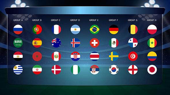 équipes foot coupe du monde 2018