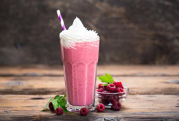 milk shake chantilly framboise