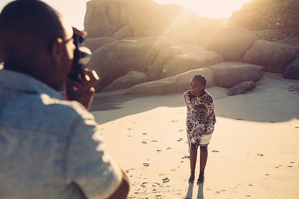 portrait sur le sable