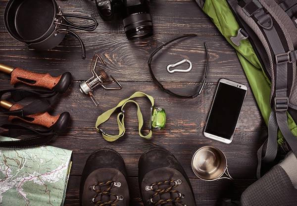 préparation rando sur smartphone