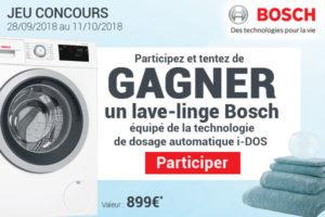 Jeu concours lave linge Bosch