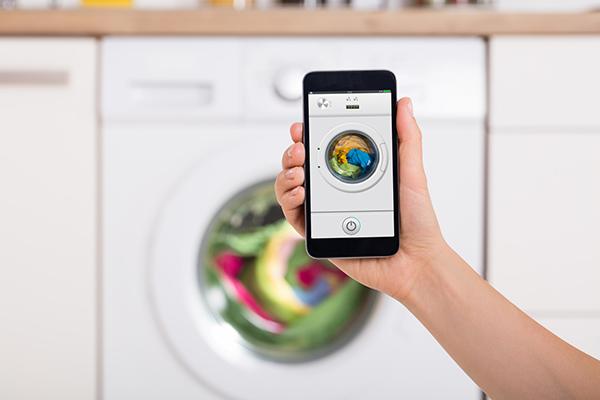 contrôle du lave linge avec téléphone