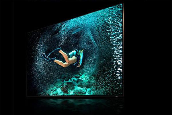 Téléviseur 8K Samsung très haute résolution