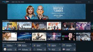 Interface Amazon Prime Vidéo