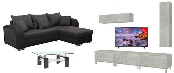 pack tv meuble tv salon ubaldi