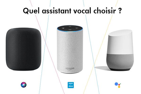 quel assistant vocal choisir : google, amazon ou apple ?