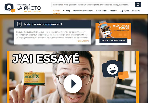 site conseils photo : apprendre la photo