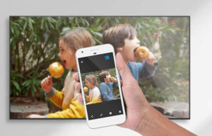 diffuser vidéo smartphone sur tv via box android tv
