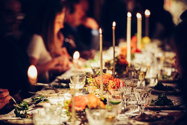prendre en photo une table et un repas