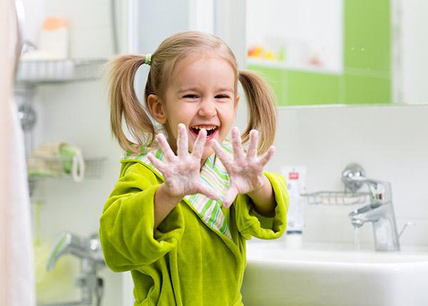 conseil hiver : se laver les mains