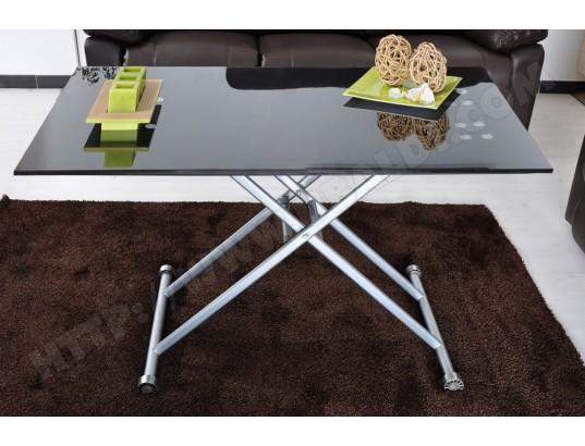 Table Basse LIGNE UBALDI TABLE RELEVABLE BASTO NOIRE