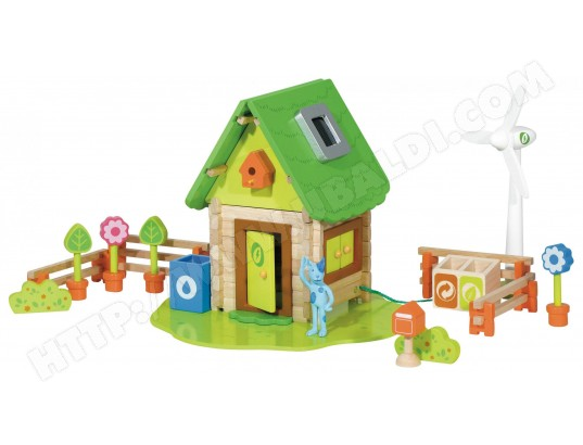 Jeu de construction en bois HOUSE OF TOYS La Maison Verte