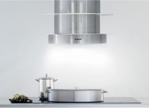 Hotte décorative ilot central silverline