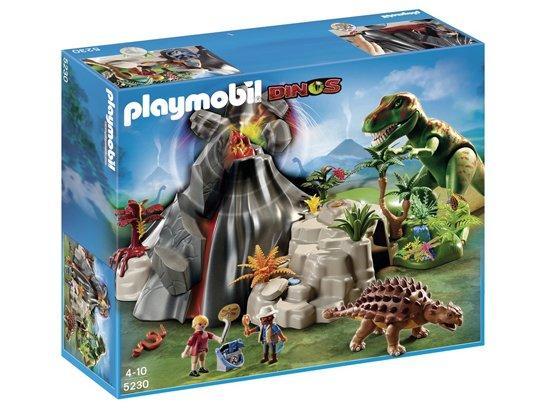 PLAYMOBIL 5230 - Tyrannosaure et Saichania avec volcan