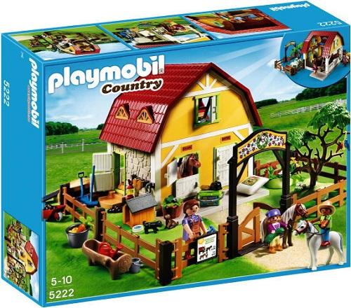 PLAYMOBIL 5222 - Ranch avec poneys